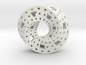 Menger Mobius  in White Natural Versatile Plastic