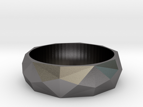 Angular Beauty Ring 22MM in Polished Nickel Steel