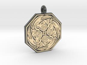 Cerridwen Octagonal Pendant in Glossy Full Color Sandstone