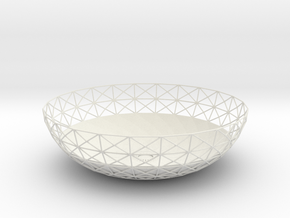 Semiwire Bowl in White Natural Versatile Plastic