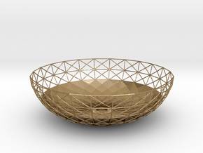 Semiwire Bowl in Polished Gold Steel
