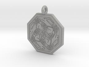 Hare Celtic Octagon Pendant in Aluminum