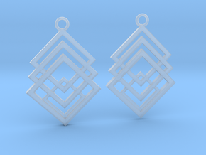 Geometrical earrings no.1 in Smooth Fine Detail Plastic: Medium