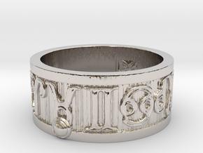 Zodiac Sign Ring Taurus / 20mm in Rhodium Plated Brass