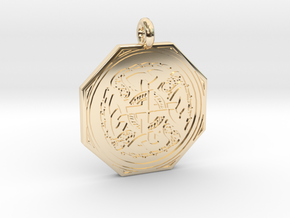 Celtic Cross Octogonal Pendant in 14K Yellow Gold