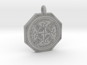 Celtic Cross Octogonal Pendant in Aluminum