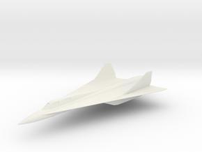 F-381A Bandit Interceptor Aircraft in White Natural Versatile Plastic: 1:100