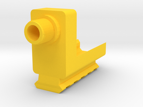 Barrel Adapter with Bottom Rail for G17 in Yellow Processed Versatile Plastic