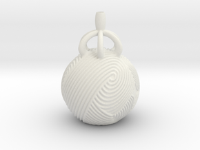 Vase 2112 in White Natural Versatile Plastic