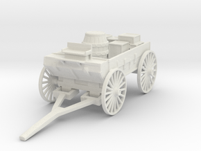 HO Scale Loaded Wagon in White Natural Versatile Plastic