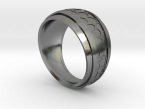 Anello-Voronoi in Polished Silver