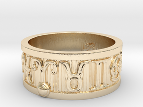 Zodiac Sign Ring Aries / 20.5mm in 14K Yellow Gold