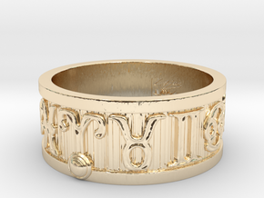 Zodiac Sign Ring Aries / 21mm in 14K Yellow Gold