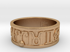 Zodiac Sign Ring Aries / 23mm in Natural Bronze