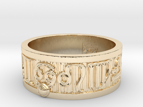 Zodiac Sign Ring Cancer / 22mm in 14k Gold Plated Brass