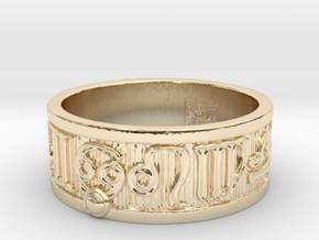 Zodiac Sign Ring Cancer / 23mm in 14K Yellow Gold