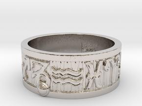 Zodiac Sign Ring Capricorn / 21.5mm in Rhodium Plated Brass