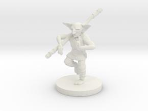 Goblin Monk - Small Humanoid in White Natural Versatile Plastic