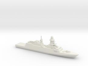 Bergamini-Class FFG (2011), 1/1250 in White Natural Versatile Plastic