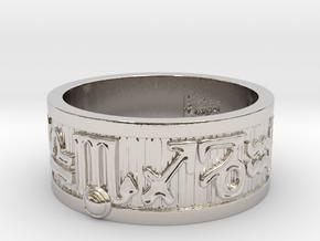 Zodiac Sign Ring Scorpio / 21mm in Rhodium Plated Brass