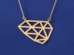 Polygon Pendant in Raw Brass