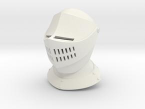 Basic Armet (Full) in White Natural Versatile Plastic: Small