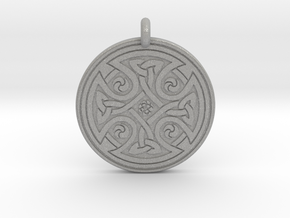 Celtic Cross - Round Pendant in Aluminum