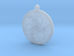 Hare Celtic  - Round Pendant in Smooth Fine Detail Plastic