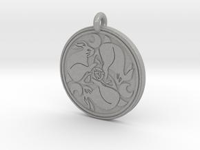 Hare Celtic - Round Pendant in Aluminum