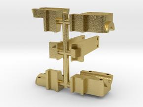 119 rocker arm mount & boiler brace in Natural Brass