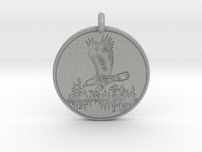 Bald Eagle Soaring Totem Pendant in Aluminum