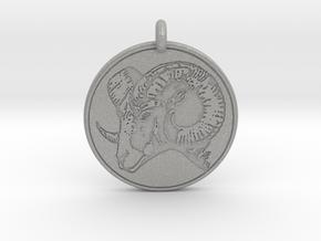 Big Horn Sheep  Animal Totem Pendant in Aluminum