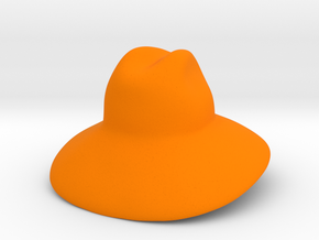 Oversized Gucci Hat in Orange Processed Versatile Plastic: Small