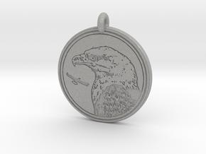 Bald Eagle Animal Totem Pendant in Aluminum