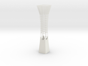 Vase 838FC in White Natural Versatile Plastic