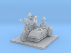 post apocalypse classic bike and sidecar can setti in Smooth Fine Detail Plastic