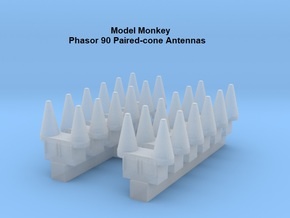 1/600 Phasor 90 Paired-cone Antennas (set of 12) in Smoothest Fine Detail Plastic