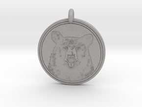 Black Bear Portait Animal Totem Pendant in Aluminum