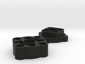 F110spooladaptors in Black Natural Versatile Plastic