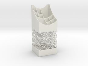 Penholder 16W in White Natural Versatile Plastic