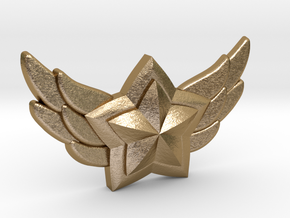 Star Guardian - First Star Pin in Polished Gold Steel