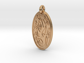 Sacred Tree/Tree of Life - Oval Pendant in Polished Bronze