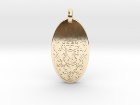Brigantia - Oval Pendant in 14k Gold Plated Brass