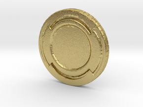 Star wars Sabacc Solo Simple Coin chip in Natural Brass
