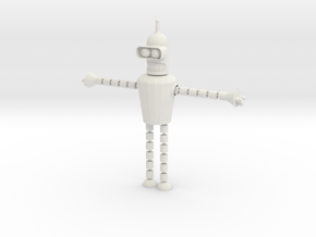 Bender Toy in White Natural Versatile Plastic: Small