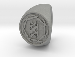 Custom Signet ring 84 in Gray Professional Plastic
