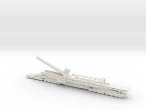 Sk l/45 38cm max e 1/144 Railway artillery ww1 in White Natural Versatile Plastic