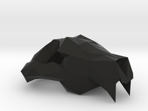 Tasmanian Devil Low Poly Skull Upper in Black Natural Versatile Plastic