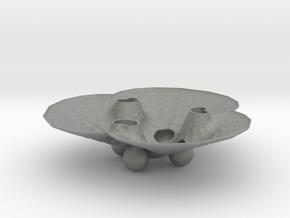 3pFractalBowl in Gray Professional Plastic