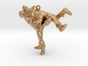 Swiss wrestling - 40mm high in Natural Bronze